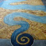 Pattern in mosaic - CRWC, Iowa City