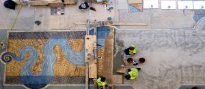 River of Life mosaic installation, Iowa University