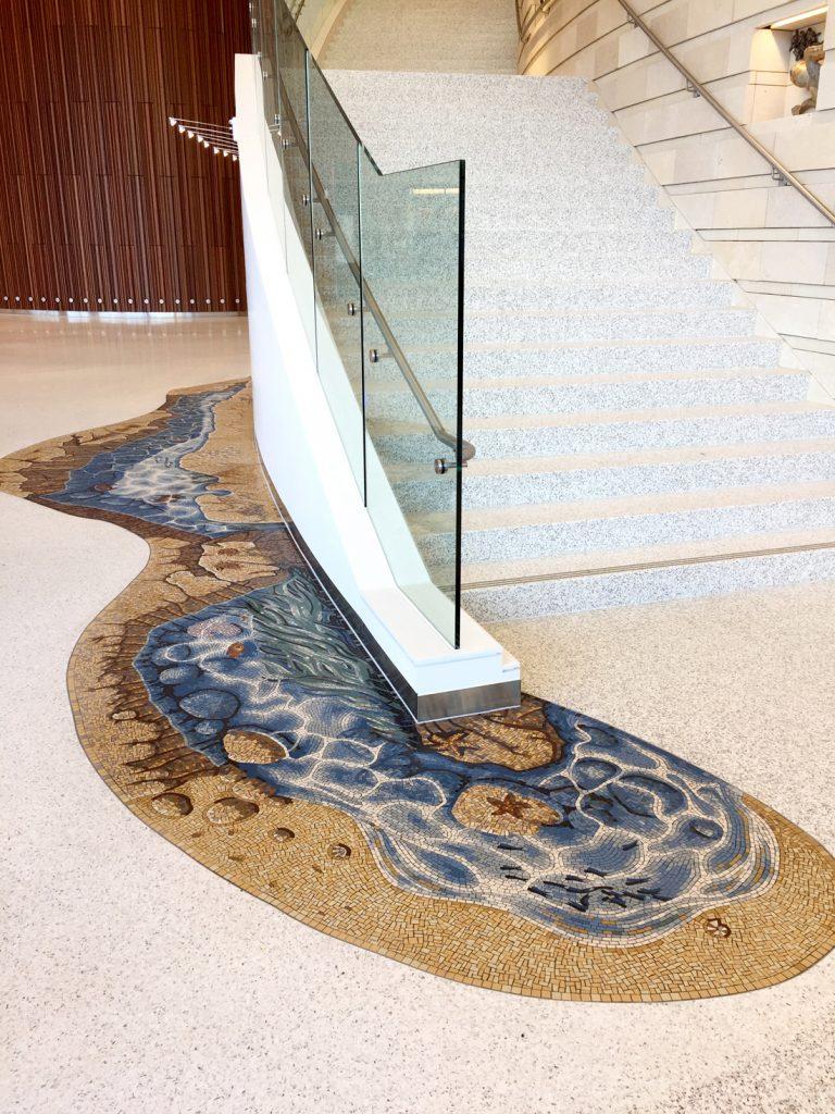 LPCH Stair wrap mosaic view