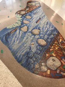 LPCH Trout River mosaic by Gary Drostle