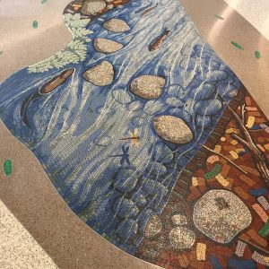 LPCH Trout River mosaic by Gary Drostle