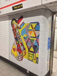Tottenham Court Road Saxaphone mosaic restoration