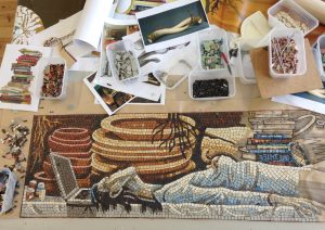 Making the Saxon Grave mosaic