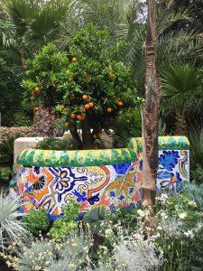 Barcelona Garden Mosaic Wall by Gary Drostle