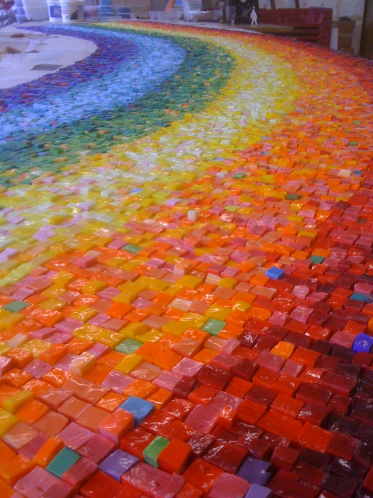Venetian Glass Rainbow Mosaic