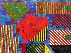 Poalozzi Mosaic detail - Tottenham Court Road