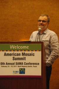 Gary Drostle speaking at the American Mosaic Summit in Austin Texas