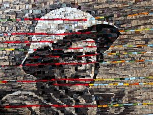 Shrapnel mosaic detail by Gary Drostle