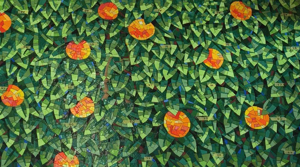 Tangerines Glass Mosaic