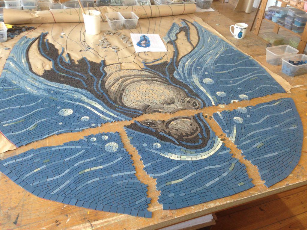 Elephant Seal mosaic division