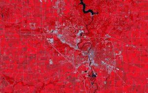 Iowa City satellite image