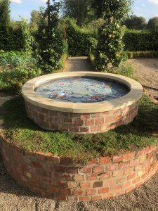 Well pond mosaic view