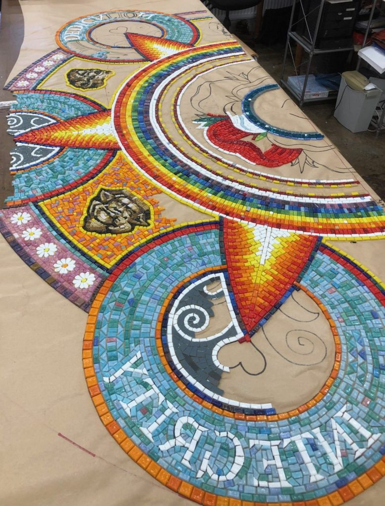Making the Holt School Mosaic