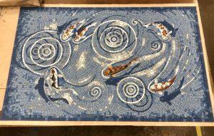 Rectangular fishpond mosaic