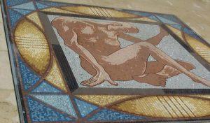 Man mosaic detail