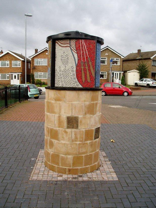 Hucknell Heritage Pillar - Lace making