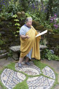 Roman orator in the Roman Garden