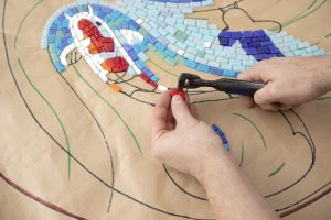 making mosaics with Gary Drostle